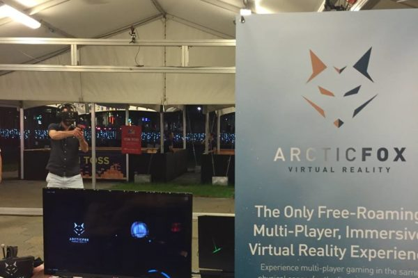 VR booth at Bayfront