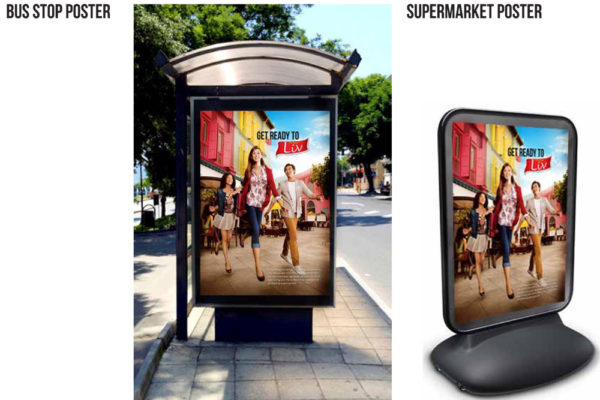 Bus Stop and Supermarket Poster